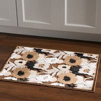 Structure Floral Brown Beige Area Rug (2' X 3') - 2' x 3'