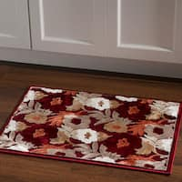 Structure Floral Brown Red Area Rug (2' X 3') - 2' x 3'