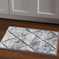 Structure Medallions Blue Grey Area Rug (2' X 3') - 2' x 3'