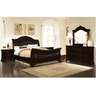 Best Master Furniture Dark Walnut 5 Pieces Bedroom Set | Overstock.com  Shopping - The Best Deals on Bedroom Sets