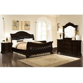 Best Master Furniture Dark Walnut 5 Pieces Bedroom Set