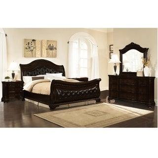Best Master Furniture Dark Walnut 5 Pieces Bedroom Set