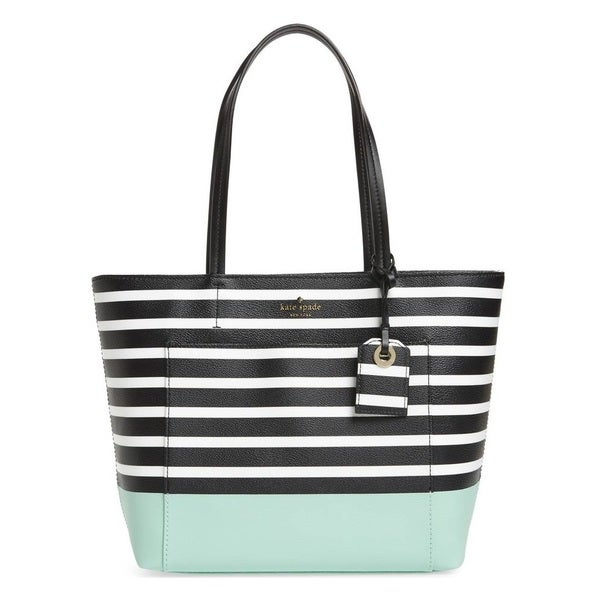 Kate Spade New York Hyde Lane Dipped Small Riley Sea Glass Green Tote Bag