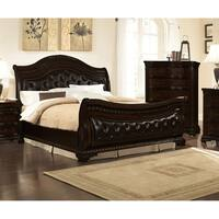 Best Master Furniture Upholstered Sleigh Bed