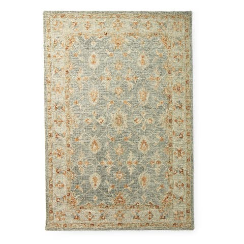 Alexander Home Shabby-Chic Mosaic Spa Hand-hooked 100% Wool Rug