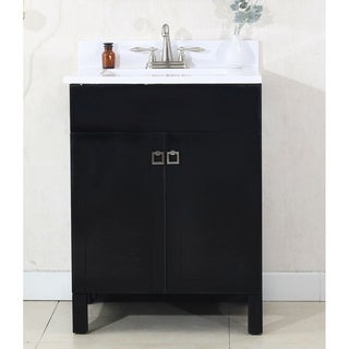 Legion Furniture 24 in. Bathroom Vanity in Espresso with Porcelain Top