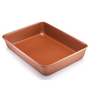 Copper Nonstick Bakeware Baking Square Pan 9.5""