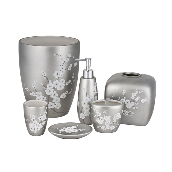 Five Queens Court Mateo Cherry Blossom Stoneware Bathroom Accessories
