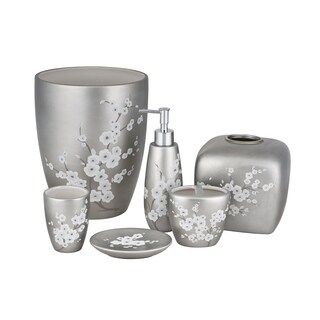 Five Queens Court Mateo Cherry Blossom Stoneware Bathroom Accessories (2 options available)