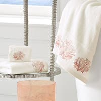 Five Queens Court Caribbean Reef Cotton Embroidered Bath Towel
