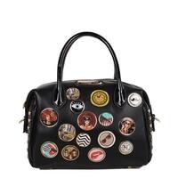 Maarii Black Button Mini Boston Bag