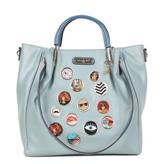 Maarii Blue Button Bucket Bag