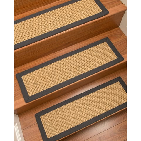 """NaturalAreaRugs Dubai Carpet Stair Treads (Set of 13) - 13PC (9"""" x 29"""")"""
