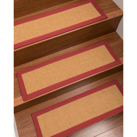 "NaturalAreaRugs Davlin Carpet Stair Treads (Set of 13) - 13PC (9"" x 29"")"