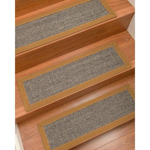 "NaturalAreaRugs Shadows Carpet Stair Treads (Set of 13) - 13PC (9"" x 29"")"