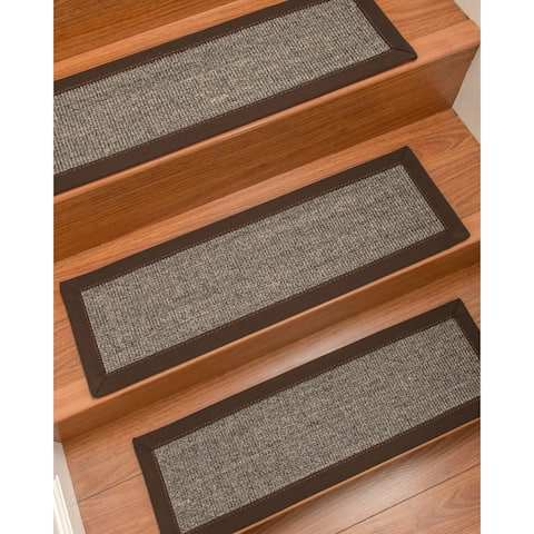 "NaturalAreaRugs Shadows Carpet Stair Treads (Set of 13) - 13PC (9"" x 29"")"
