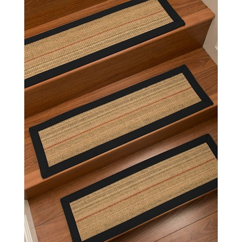 "NaturalAreaRugs Resort Carpet Stair Treads (Set of 13) - 13PC (9"" x 29"")"