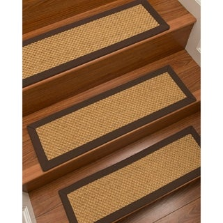 """NaturalAreaRugs Rustic Carpet Stair Treads Hand Crafted in USA (9"""" x 29"""" Set of 13)"""