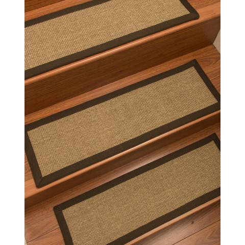 """NaturalAreaRugs Hand Crafted Adrina Carpet Stair Treads ( Set of 13) - 13PC (9"""" x 29"""")"""