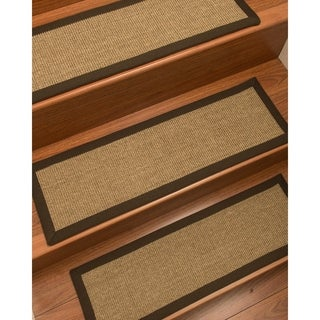 "NaturalAreaRugs Hand Crafted Adrina Carpet Stair Treads ( Set of 13) - 9""x 29"""