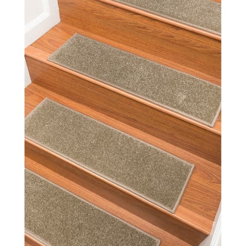 """NaturalAreaRugs Hand Crafted Malvern Carpet Stair Treads ( Set of 13) - 13PC (9"""" x 29"""")"""