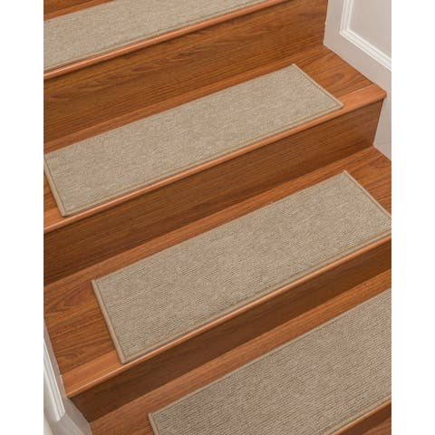 "NaturalAreaRugs Hand Crafted Kenya Carpet Stair Treads ( Set of 13) - 13PC (9"" x 29"")"