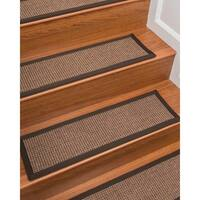 """NaturalAreaRugs Hand Crafted Freda Carpet Stair Treads ( Set of 13) - 9""""x 29"""""""