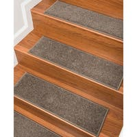 """NaturalAreaRugs Hand Crafted Kenwood Carpet Stair Treads ( Set of 13) - 9""""x 29"""""""