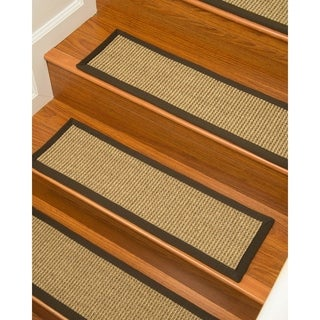 "NaturalAreaRugs Hand Crafted Tara Carpet Stair Treads ( Set of 13) - 9""x 29"""