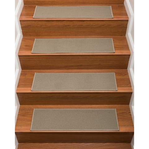 """NaturalAreaRugs Hand Crafted Colby Carpet Stair Treads ( Set of 13) - 13PC (9"""" x 29"""")"""