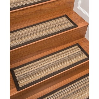 """NaturalAreaRugs Hand Crafted Lugano Carpet Stair Treads ( Set of 13) - 9""""x 29"""""""
