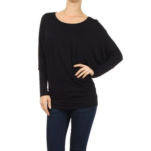 Women's Solid Babydoll Long Sleeve Top