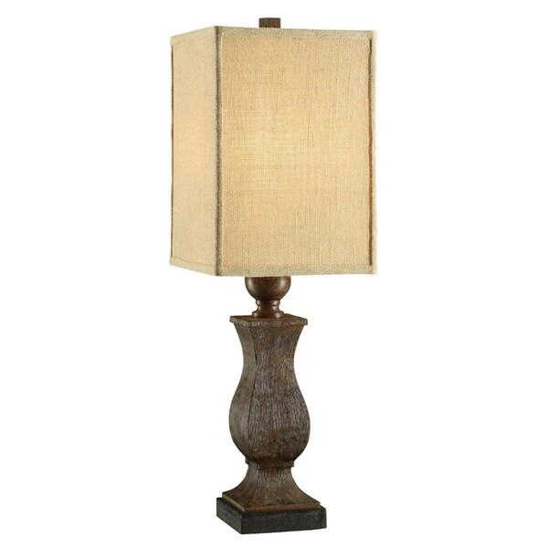 Maddox Rustic Wood 32-inch Table Lamp