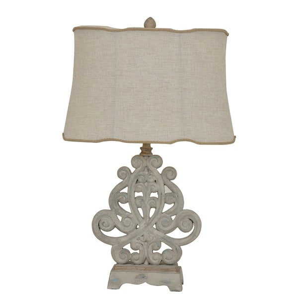 Sarah Rustic White Wash 26.5-inch Table Lamp