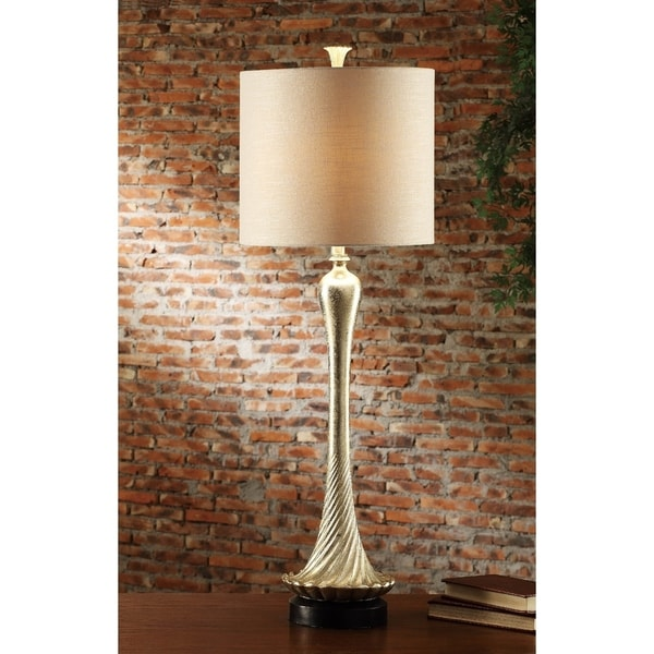 Alexandra Silver Leaf 42-inch Table Lamp