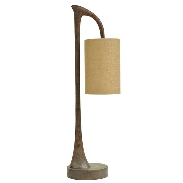 West Larce Warm Wood 34.5-inch Table Lamp