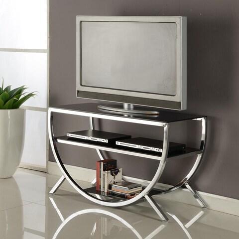 Strick & Bolton Jay Chrome TV Stand