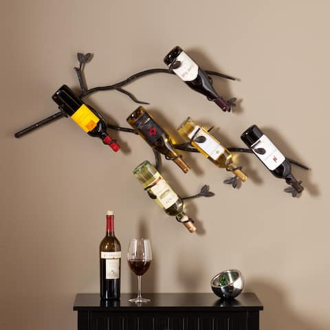 Copper Grove Chilliwack Wall Mounted Branch Wine Rack Sculpture