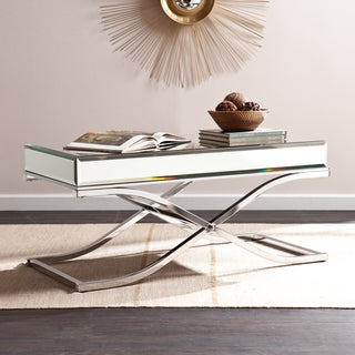 Silver Orchid Olivia Chrome Mirrored Coffee/ Cocktail Table