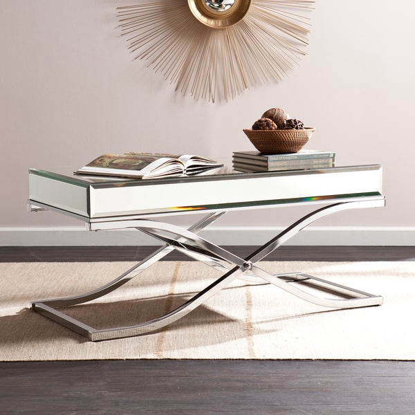 Shop Silver Orchid Olivia Chrome Mirrored Coffee/ Cocktail