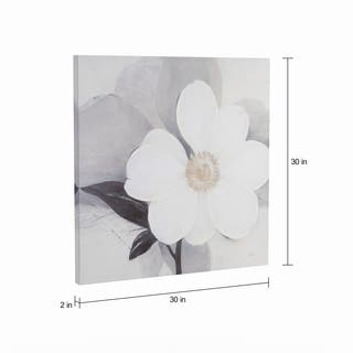Silver Orchid Ivo Stoyanov 'Midday Bloom' Embellished Canvas