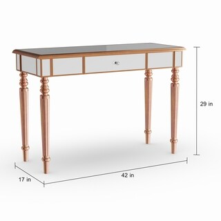 Silver Orchid Grant Champagne Gold Fontaine Mirrored Sofa/ Console Table