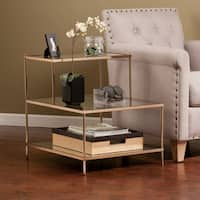 Silver Orchid Grant Glam Accent Table