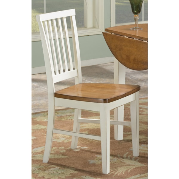 Copper Grove Impatiens Slat Back and Wooden Dining Chair (Set of 2)