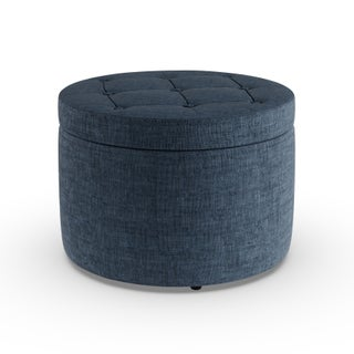 Porch & Den Bywater Congress Round Shoe Storage Ottoman
