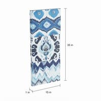 The Curated Nomad Flourish Ikat Gel Canvas 3-piece Art Set
