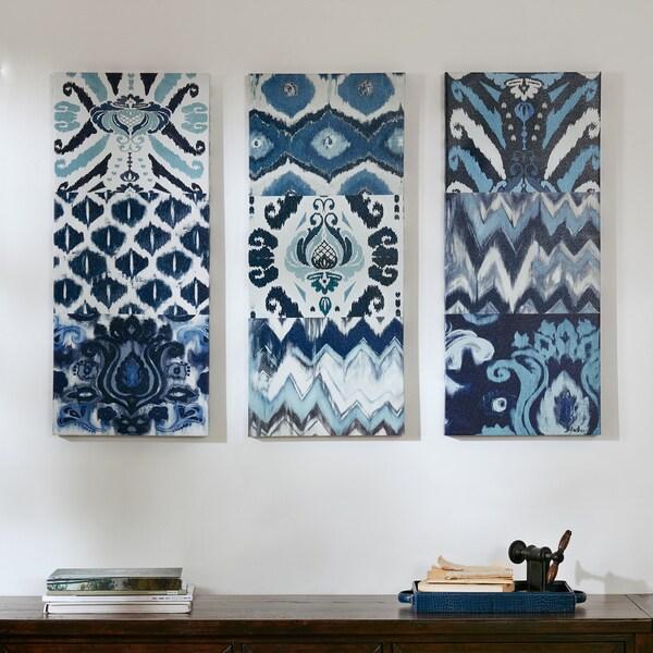 Shop The Curated Nomad Flourish Ikat Gel Canvas 3-piece Art Set ... 2539a92e7