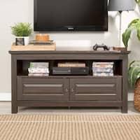 Porch & Den Forest Park Samar 44-inch Espresso Wood TV Console