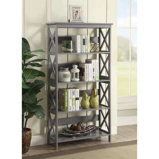The Gray Barn Pitchfork Bookcase with Three Shelves (Option: Grey)