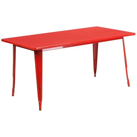 The Curated Nomad Liholio 63-inch Metal Cafe Table